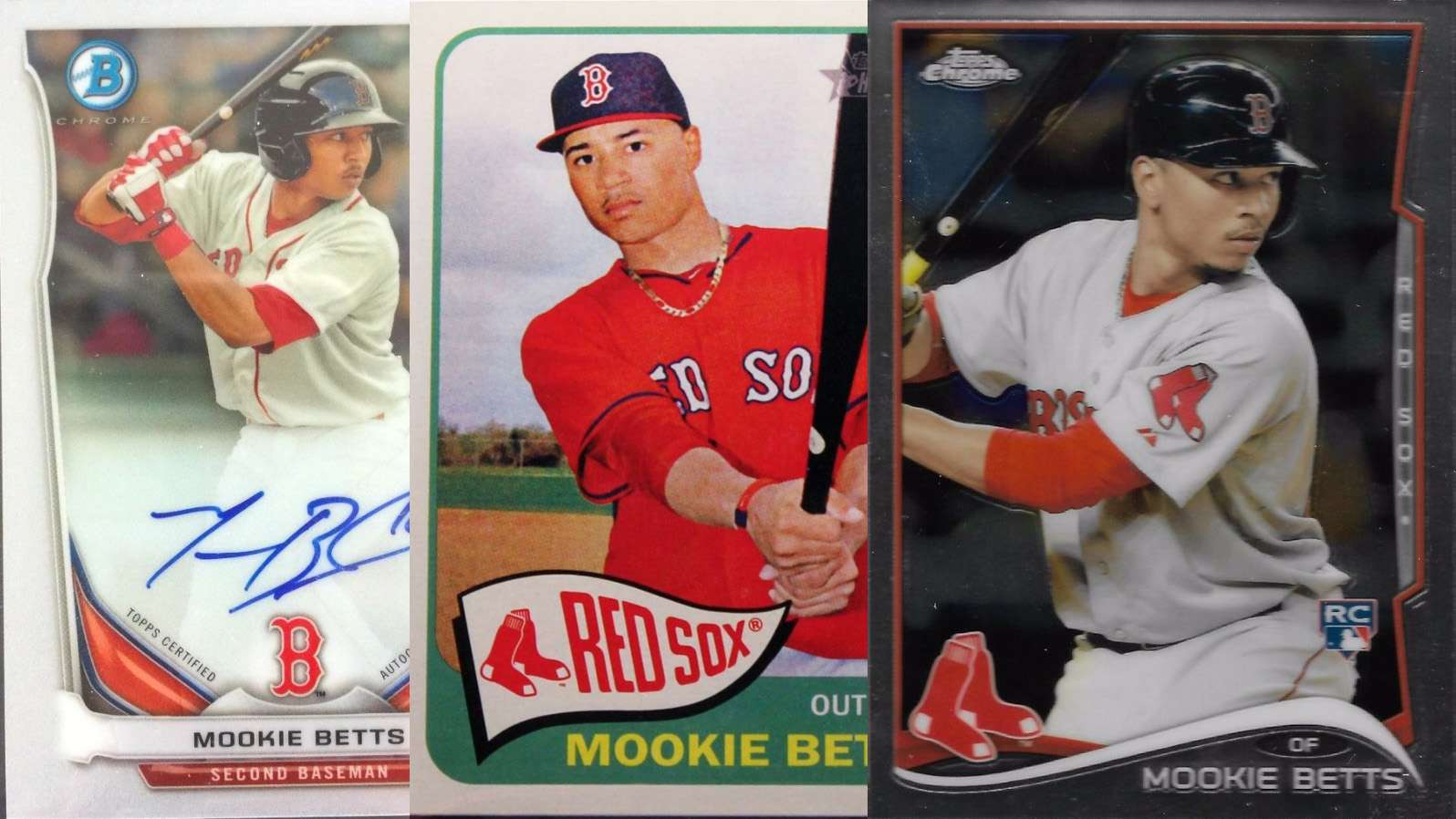Mookie Betts And His Top 3 Rookie Cards Fivecardguys