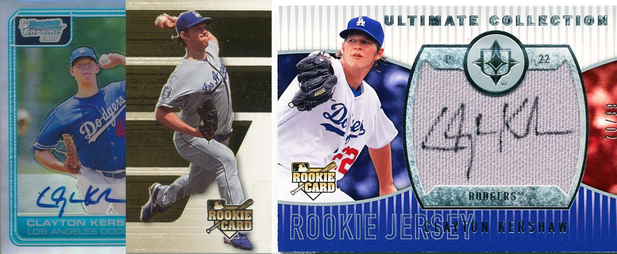 Clayton Kershaw And His Top 3 Rookie Cards Fivecardguys