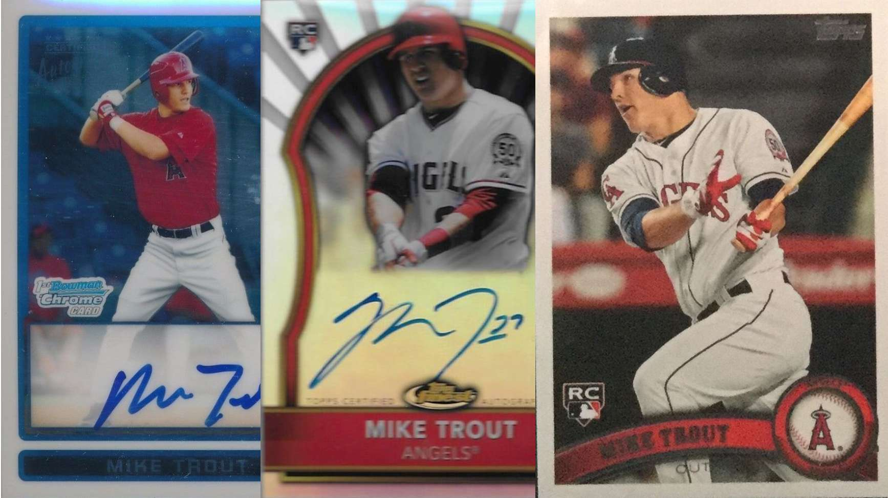 Mike Trout And His Top 3 Rookie Cards Fivecardguys