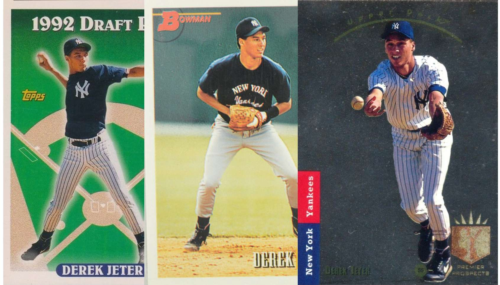 Derek Jeter And His Three Top Rookie Cards Fivecardguys