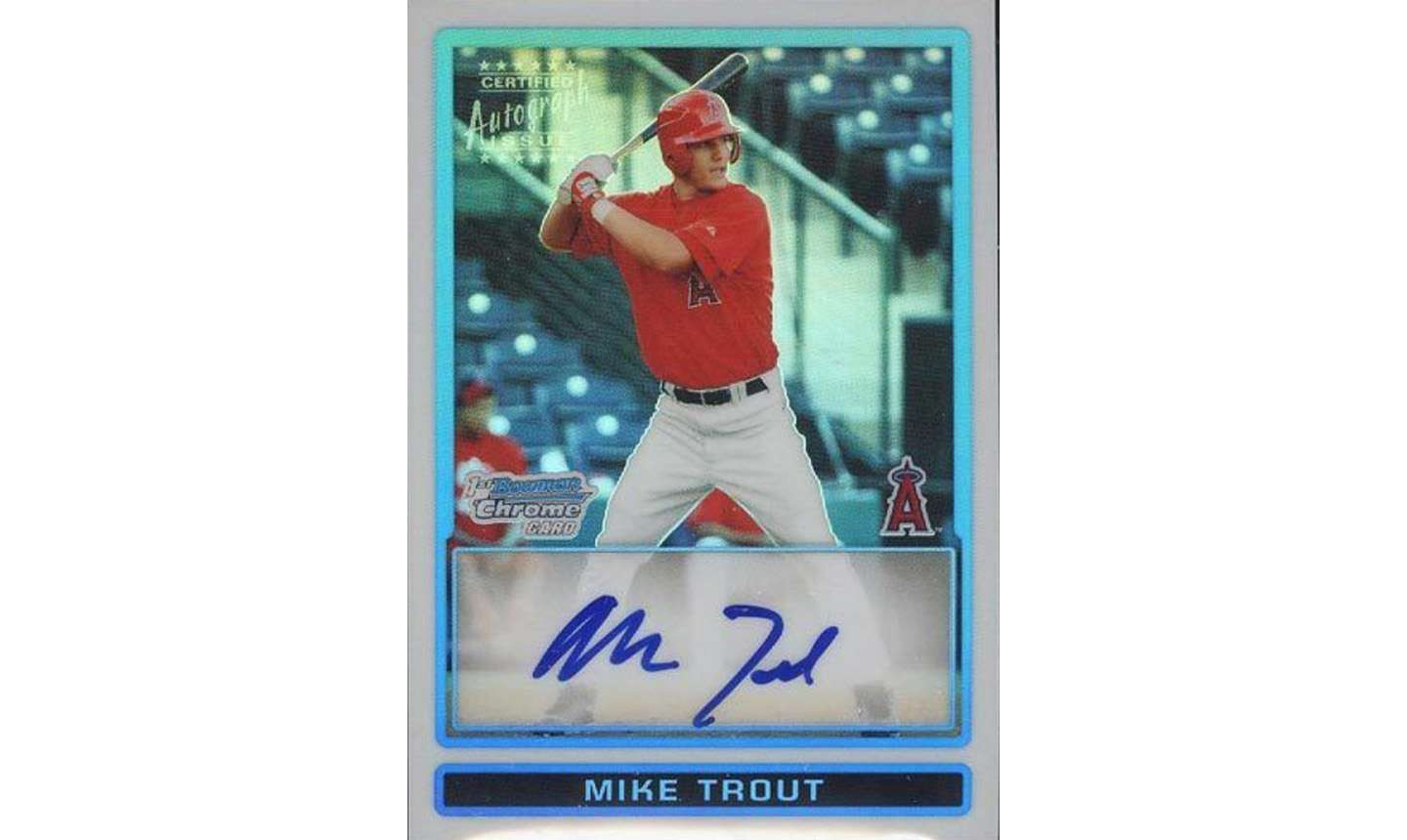 A More Affordable Price For A Mike Trout Bowman Chrome Draft