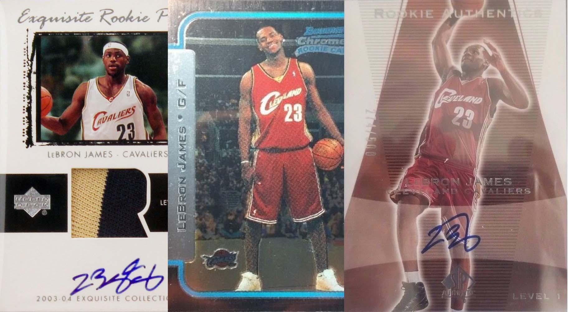 Lebron James And His Top 3 Rookie Cards Fivecardguys