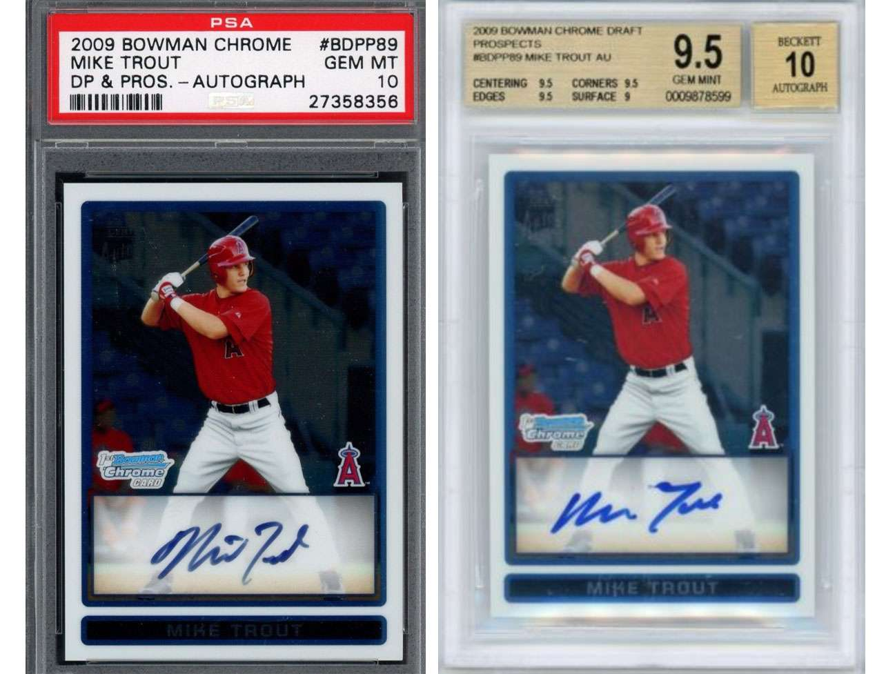 Would You Rather Have A Mike Trout Psa 10 Or Mike Trout Bgs 95