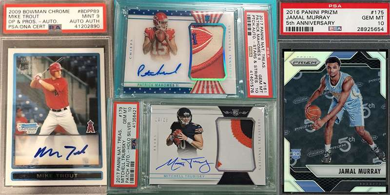 These Sports Cards Are All Psa Graded Mint Or Higher And