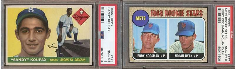 A Couple Of Very Nice Psa Graded Vintage Baseball Cards