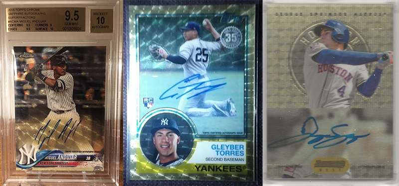 Newly Listed Superfractor Today Include Yankees Miguel