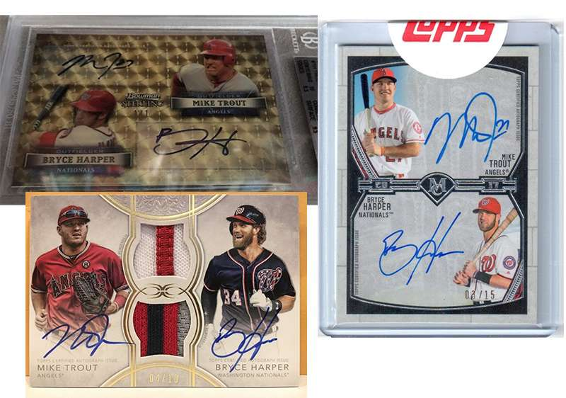 All These Have Dual Autographs Of Mike Trout Bryce Harper