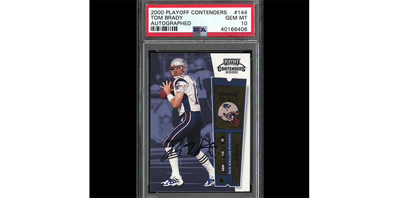 This  100K plus Tom Brady autograph sports card and others on eBay ... 9940140d1