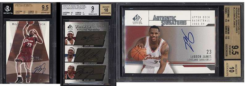 Several Auctions For High End Lebron James Rookie Card