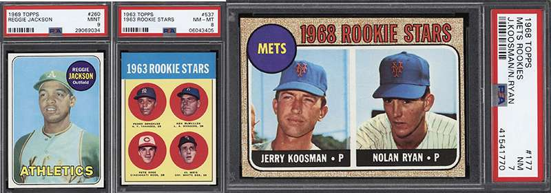 Reggie Jackson Nolan Ryan Pete Rose Rookie Cards All Up