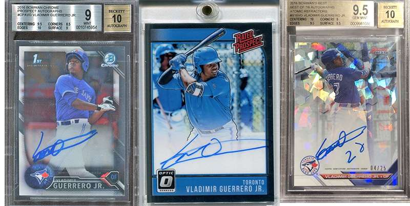 Vladimir Guerrero Jr And His Top 3 Rookie Cards Fivecardguys