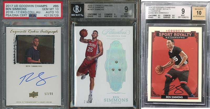 Ben Simmons And His Top 3 Rookie Cards Fivecardguys