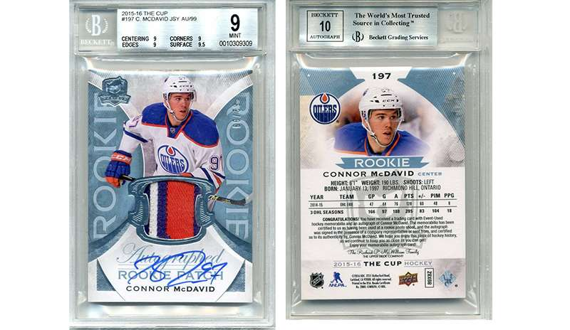 Another Connor Mcdavid The Cup Rookie Patch Autograph Up