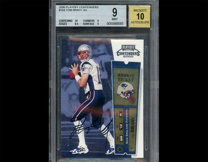 Another Tom Brady Autograph Rookie Card Going For At Least