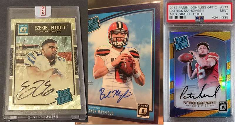 Most Valuable Donruss Optic Rated Rookie Autograph Football