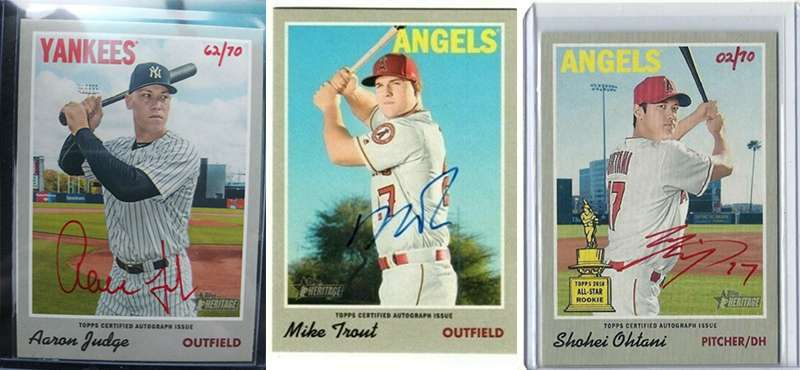 These 2019 Topps Heritage Real One Autograph Baseball Cards Are