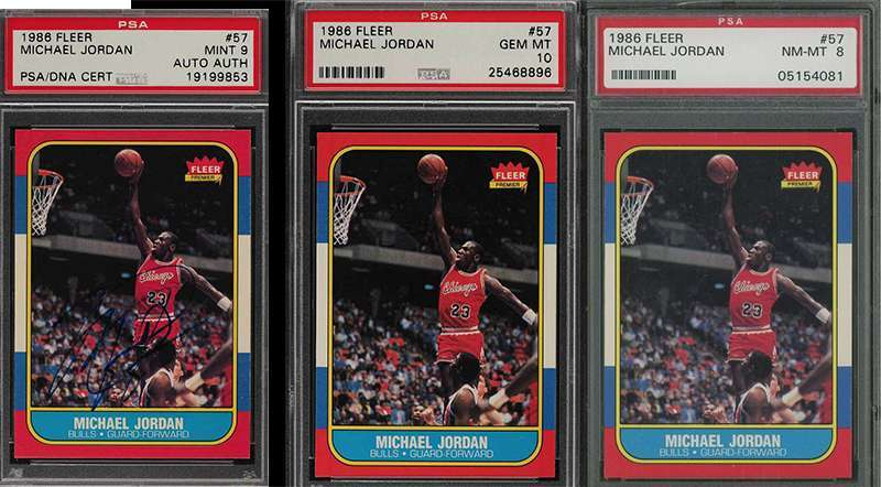 Plenty Of Iconic Michael Jordan Fleer Rookie Card Psa