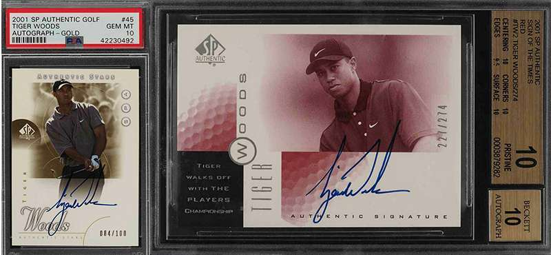 Tiger Woods Autograph Sports Cards A Hot Commodity Again A