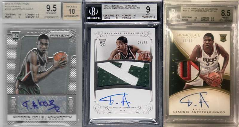Giannis Antetokounmpo And His Top 3 Rookie Cards Fivecardguys