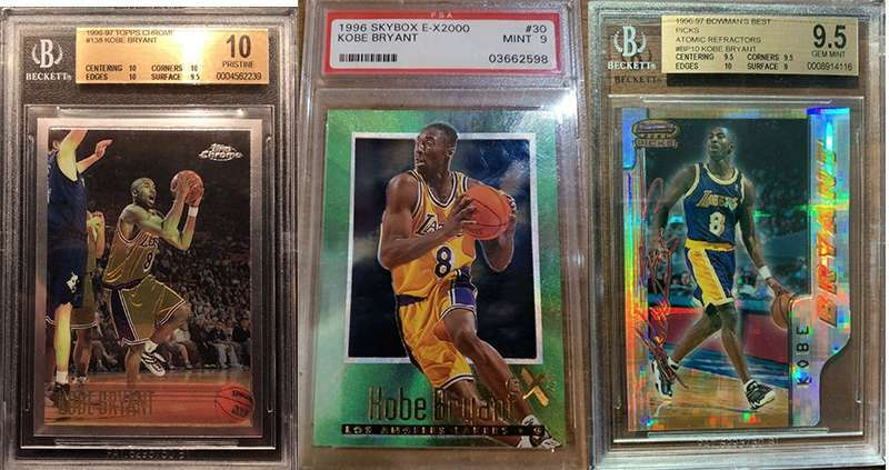 Kobe Bryant And His Top 3 Rookie Cards Fivecardguys