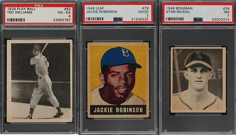 Ted Williams Jackie Robinson More Graded Vintage Sports