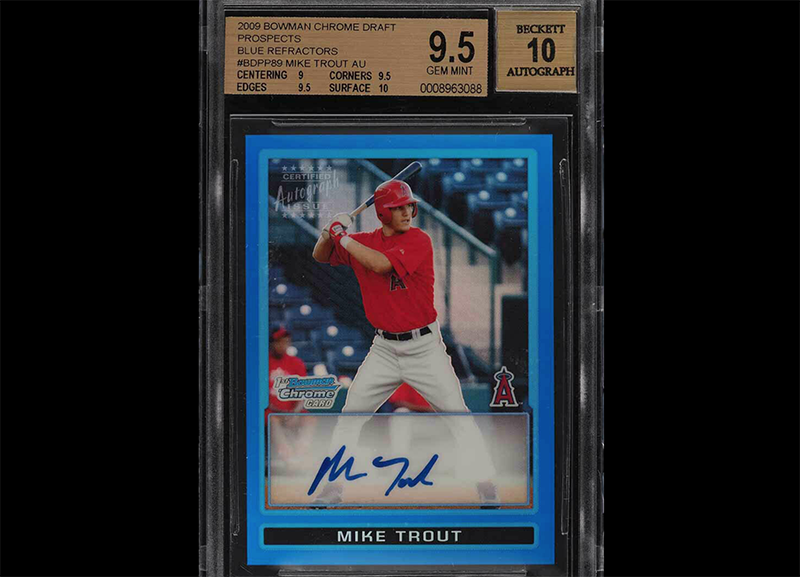 50k For This Mike Trout Autograph Rookie Card Fivecardguys