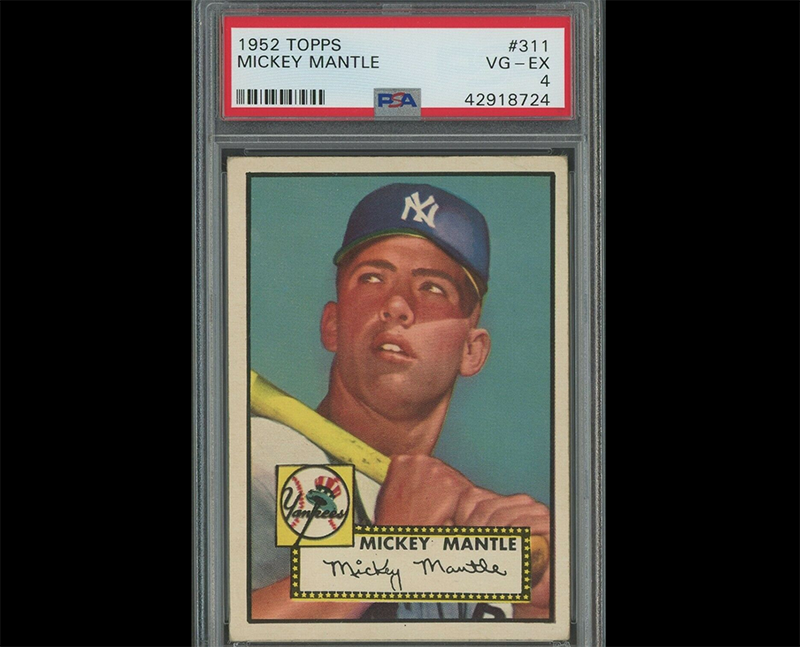 Iconic Mickey Mantle 1952 Topps Baseball Card Up For Auction Ending