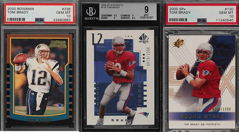 Looking For Tom Brady Rookie Cards Plenty Up For Auction Ending
